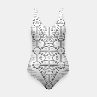 Thumbnail image of fashion art and decor items of Cult of Baal infographic tree Swimsuit, Live Heroes