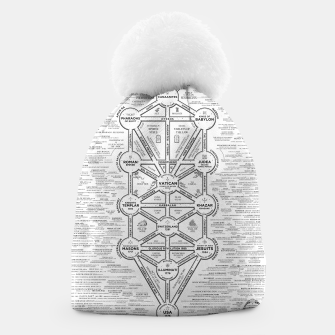 Thumbnail image of fashion art and decor items of Cult of Baal infographic tree Beanie, Live Heroes