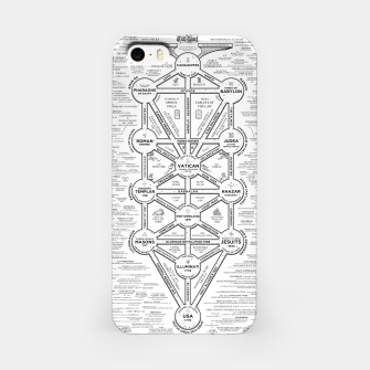 Miniature de image de fashion art and decor items of Cult of Baal infographic tree iPhone Case, Live Heroes