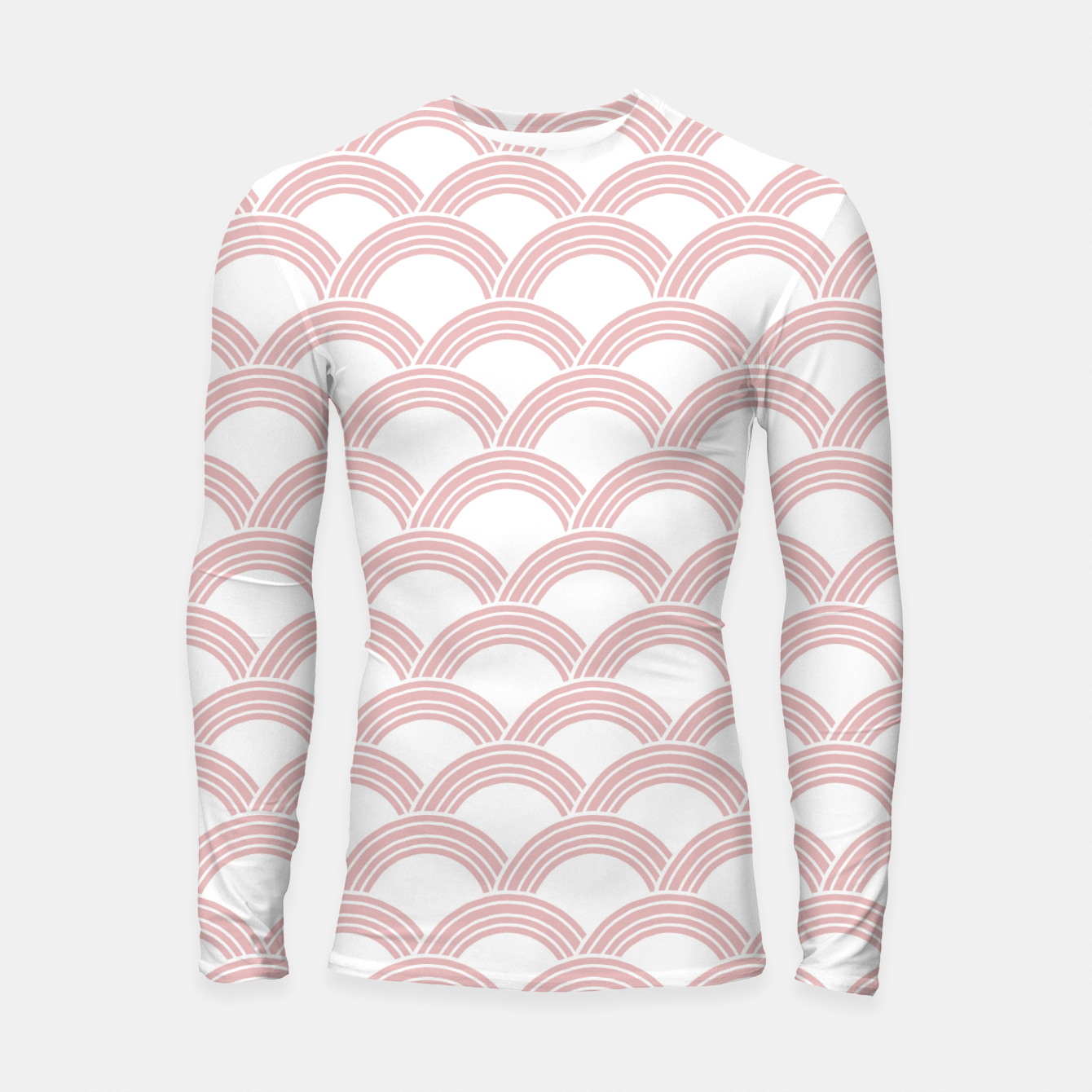 Foto Japanese Wave Blush Glam #1 #decor #art  Longsleeve rashguard - Live Heroes