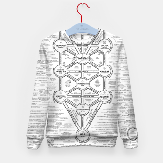 Thumbnail image of fashion art and decor items of Cult of Baal infographic tree Kid's sweater, Live Heroes