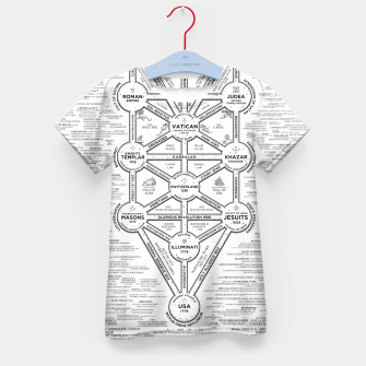 Thumbnail image of fashion art and decor items of Cult of Baal infographic tree Kid's t-shirt, Live Heroes