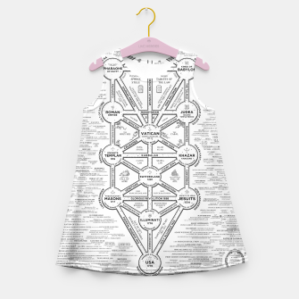 Thumbnail image of fashion art and decor items of Cult of Baal infographic tree Girl's summer dress, Live Heroes