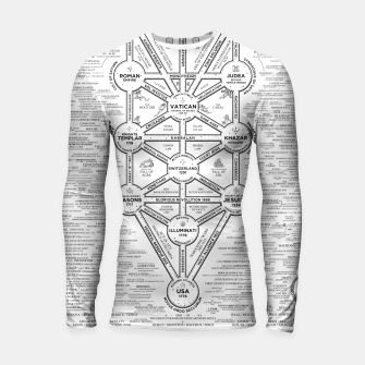 Thumbnail image of fashion art and decor items of Cult of Baal infographic tree Longsleeve rashguard , Live Heroes