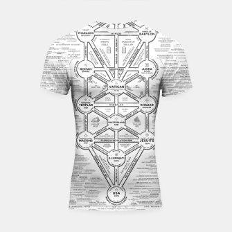 Thumbnail image of fashion art and decor items of Cult of Baal infographic tree Shortsleeve rashguard, Live Heroes