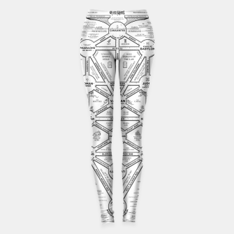 Thumbnail image of fashion art and decor items of Cult of Baal infographic tree Leggings, Live Heroes