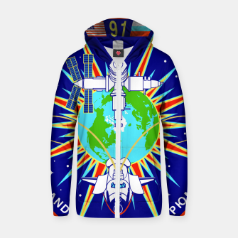 Miniaturka Fashion items and decor art of Nasa, Space Shuttle Mission 91 Logo Zip up hoodie, Live Heroes