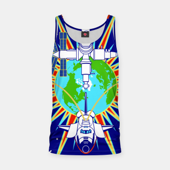 Miniaturka Fashion items and decor art of Nasa, Space Shuttle Mission 91 Logo Tank Top, Live Heroes