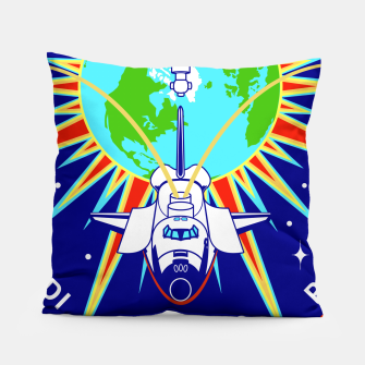 Miniaturka Fashion items and decor art of Nasa, Space Shuttle Mission 91 Logo Pillow, Live Heroes