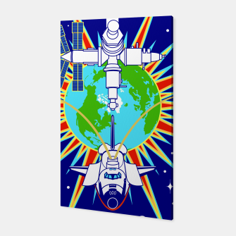 Miniatur Fashion items and decor art of Nasa, Space Shuttle Mission 91 Logo Canvas, Live Heroes