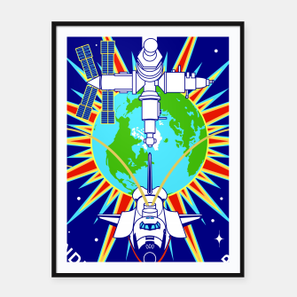 Miniatur Fashion items and decor art of Nasa, Space Shuttle Mission 91 Logo Framed poster, Live Heroes