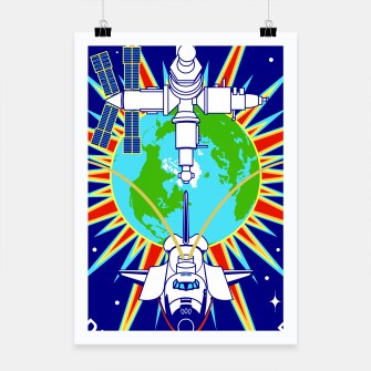 Miniatur Fashion items and decor art of Nasa, Space Shuttle Mission 91 Logo Poster, Live Heroes