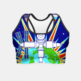 Miniatur Fashion items and decor art of Nasa, Space Shuttle Mission 91 Logo Crop Top, Live Heroes
