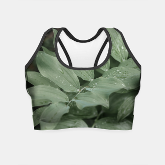 Miniaturka Green leaf Crop Top, Live Heroes