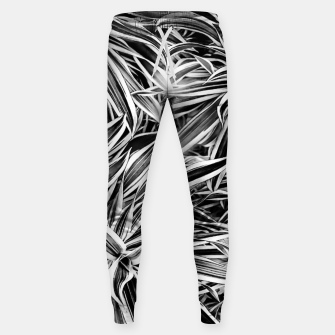 Thumbnail image of Black and White Tropical Print Sweatpants, Live Heroes