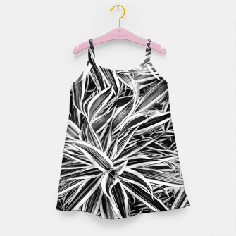 Thumbnail image of Black and White Tropical Print Girl's dress, Live Heroes