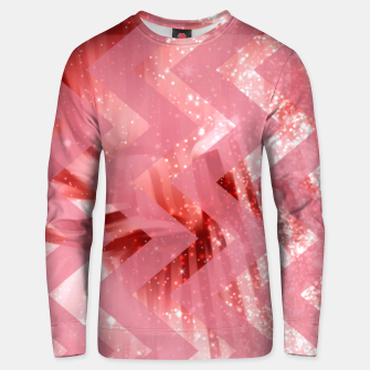 Thumbnail image of striped wavy pink glittered abstract digital pattern Unisex sweater, Live Heroes