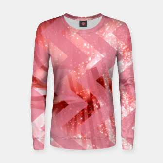 Thumbnail image of striped wavy pink glittered abstract digital pattern Women sweater, Live Heroes