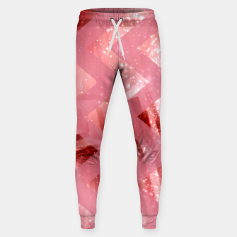 Thumbnail image of striped wavy pink glittered abstract digital pattern Sweatpants, Live Heroes