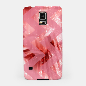 Thumbnail image of striped wavy pink glittered abstract digital pattern Samsung Case, Live Heroes