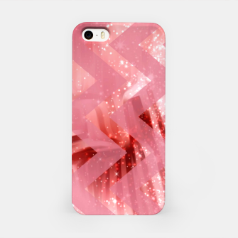 Thumbnail image of striped wavy pink glittered abstract digital pattern iPhone Case, Live Heroes