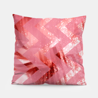Thumbnail image of striped wavy pink glittered abstract digital pattern Pillow, Live Heroes