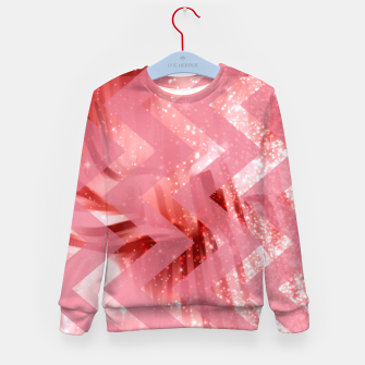 Thumbnail image of striped wavy pink glittered abstract digital pattern Kid's sweater, Live Heroes