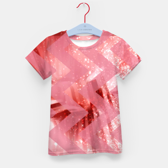 Thumbnail image of striped wavy pink glittered abstract digital pattern Kid's t-shirt, Live Heroes