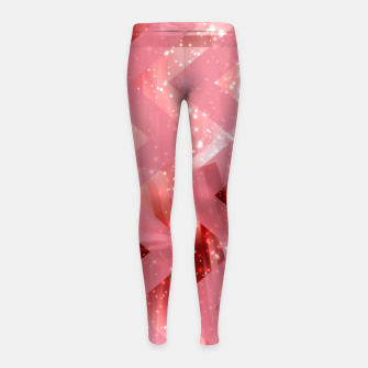 Thumbnail image of striped wavy pink glittered abstract digital pattern Girl's leggings, Live Heroes