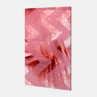 Thumbnail image of striped wavy pink glittered abstract digital pattern Canvas, Live Heroes