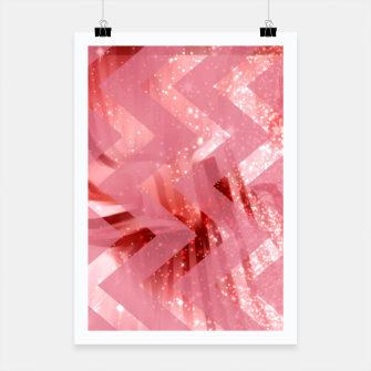 Miniature de image de striped wavy pink glittered abstract digital pattern Poster, Live Heroes