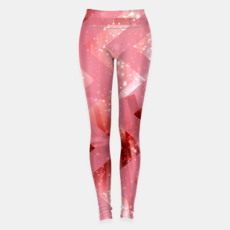 Thumbnail image of striped wavy pink glittered abstract digital pattern Leggings, Live Heroes