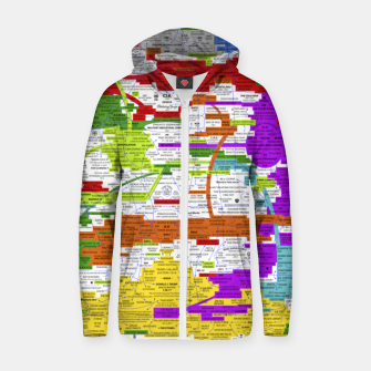 Thumbnail image of Fashion art and Decor items of Q Key Flyer infographic Zip up hoodie, Live Heroes