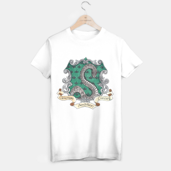 Thumbnail image of Cunning Folk Use Any Means~ Slytherin Unisex T-shirt , Live Heroes