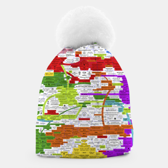 Thumbnail image of Fashion art and Decor items of Q Key Flyer infographic Beanie, Live Heroes