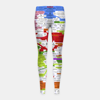 Thumbnail image of Fashion art and Decor items of Q Key Flyer infographic Girl's leggings, Live Heroes