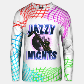 Miniatur jazzy nights Unisex sweater, Live Heroes