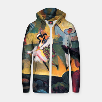 Fashion items and decor art of August MacKe - Russian Ballet Zip up hoodie thumbnail image