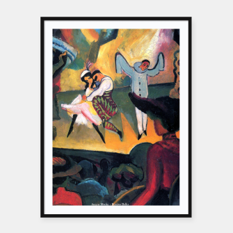 Fashion items and decor art of August MacKe - Russian Ballet Framed poster thumbnail image