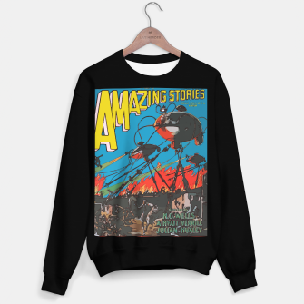 Miniatur Fashion art of Amazing Stories Comic Magazine with H.G. Wells Sweater regular, Live Heroes