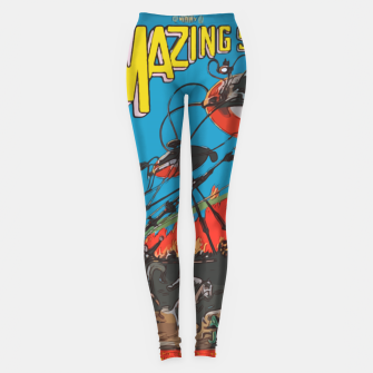 Miniatur Fashion art of Amazing Stories Comic Magazine with H.G. Wells Leggings, Live Heroes