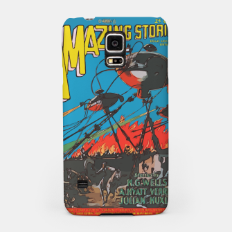 Miniatur Fashion art of Amazing Stories Comic Magazine with H.G. Wells Samsung Case, Live Heroes