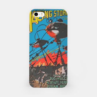 Miniatur Fashion art of Amazing Stories Comic Magazine with H.G. Wells iPhone Case, Live Heroes