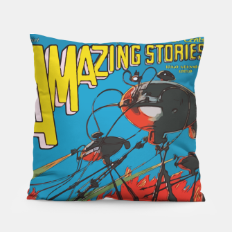 Miniatur Fashion art of Amazing Stories Comic Magazine with H.G. Wells Pillow, Live Heroes