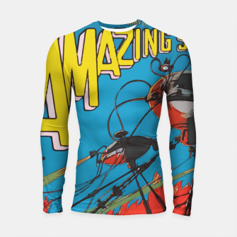 Miniatur Fashion art of Amazing Stories Comic Magazine with H.G. Wells Longsleeve rashguard , Live Heroes