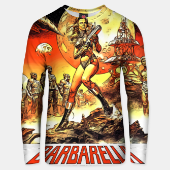 Fashion art and decor items of Barbarella Sci-fi Movie Poster Unisex sweater thumbnail image