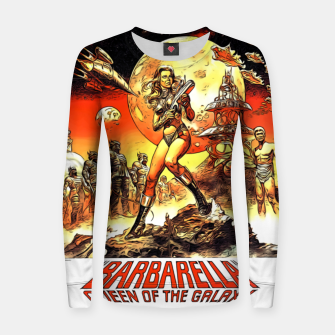 Fashion art and decor items of Barbarella Sci-fi Movie Poster Women sweater thumbnail image