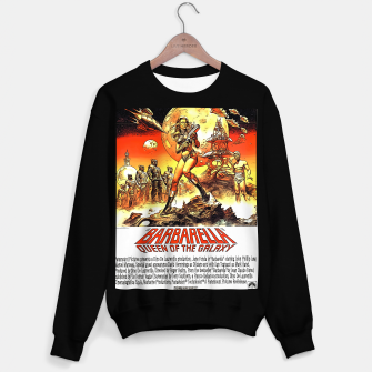 Fashion art and decor items of Barbarella Sci-fi Movie Poster Sweater regular thumbnail image