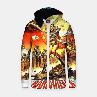 Fashion art and decor items of Barbarella Sci-fi Movie Poster Zip up hoodie thumbnail image