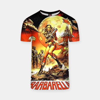 Fashion art and decor items of Barbarella Sci-fi Movie Poster T-shirt thumbnail image